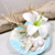 porte alliances turquoise blanc mariage coquillage