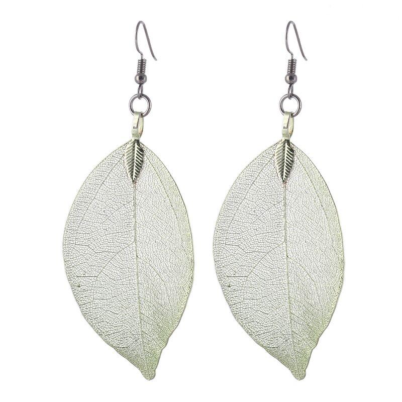 Boucles d\'oreilles feuilles légères
