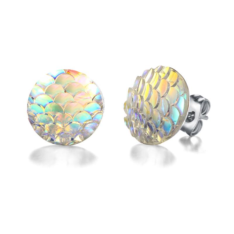 SI-VOUS-Plusieurs-Gradient-Couleur-Magique-Holographique-Boucles-D-oreilles-Sir-ne-chelle-Cristal-Motif-Boucle