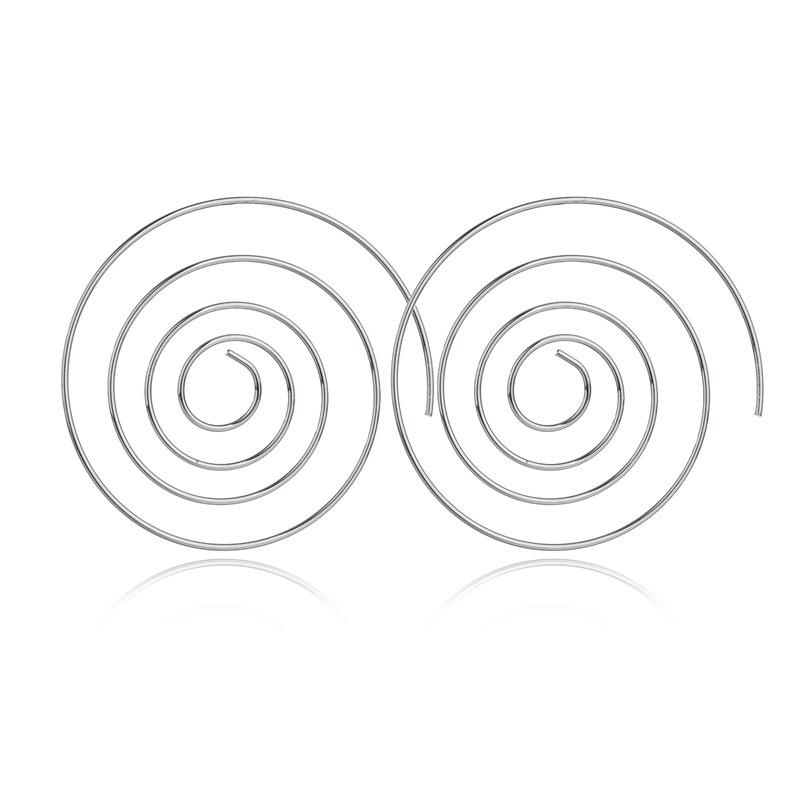 ES238-Spirale-Boucles-D-oreilles-Ronde-aretes-Simple-Style-Mode-Bijoux-Bouchons-Boucles-D-oreilles-Femmes