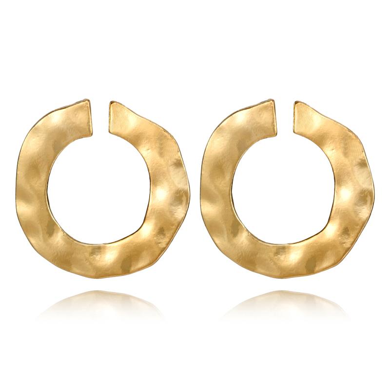 Boucles d\'oreilles cercles martelés