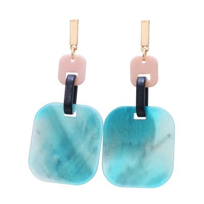 Yhpup-Mode-Romantique-Bonbons-Bleu-Acrylique-Carr-Balancent-Boucles-D-oreilles-Pour-Parti-Charme-Femmes-Boucles