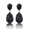 Boucles d'oreilles effet pierres de Crystal noires