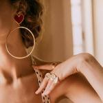 Nouveau-rouge-noir-coeur-grande-boucle-en-or-boucles-d-oreilles-pour-les-femmes-Chic-coeur