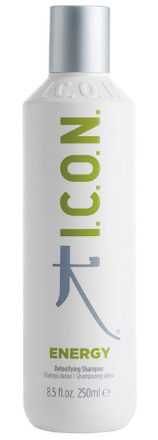 I.C.O.N. Energy Detoxifying Shampoo - 250 ml - Riche en Aloés Véra pour une chevelure rayonnante de fraicheur