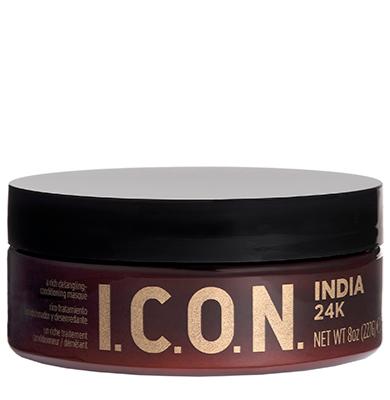 I.C.O.N. India 24k Exotic - 227g - Masque à base de paillettes d\'or pur et huile d\'argan pour des cheveux de charme