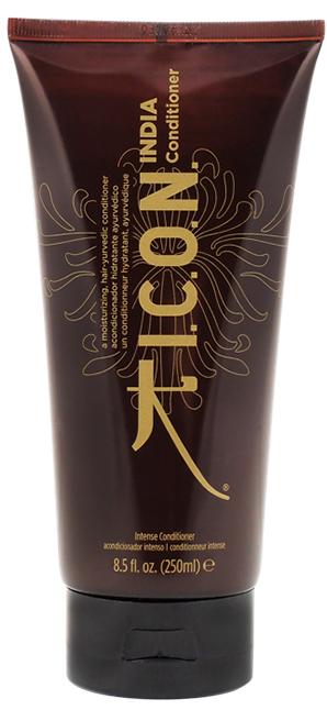 I.C.O.N. India Conditioner - 250 ml - Soin anti-âge pour cheveux au beurre de Karité, aux huiles essentielles de Moringa et d\'Argan