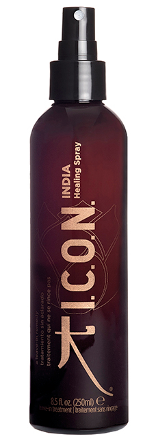 I.C.O.N. India Healing Spray -  250 ml - Soin fortifiant sans rinçage aux huiles de Moringa et d\'Argan