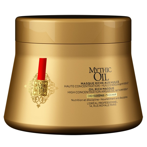 L\'Oréal Professionnel - Mythic Oil Mask - 200 ml - Extrême brillance Glossy - Extrait de Myrrhe