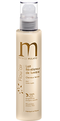 Mulato flow-Air  - Lait Miel Révélateur de Lumière - 200 ml - Gelée Royale pour illuminer vos cheveux ternes
