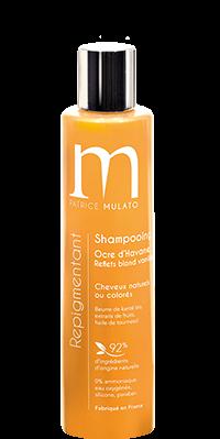 Mulato Shampooing Repigmentant Ocre d\'Havane Reflets dorés- 200 ml - Pour magnifier vos cheveux blonds