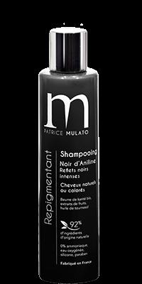 Mulato shampooing Repigmentant Noir d\'Aniline  - 200 ml - Réhausseur éclat cheveux noirs