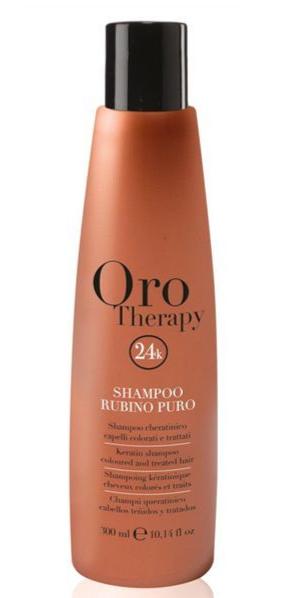 ORO Therapy 24k Rubino Puro - 300 ml - Shampooing enrichi au Rubis lumière cheveux colorés