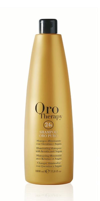 ORO Therapy 24 K Argan - 1000 ml - Shampooing paillette d\'Or pour illuminer votre chevelure