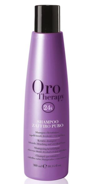 ORO Therapy 24k Shampooing Zaffiro Puro - 300 ml - Cocktail rayonnant pour cheveux blond