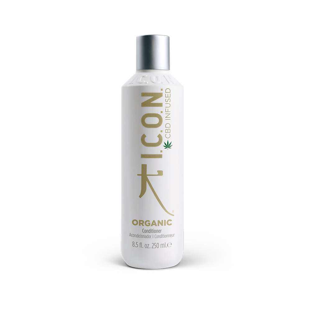 I.C.O.N Organic Conditionneur - CBD Infused - 250 ml - Riche en catéchines, desquamation et sécheresse