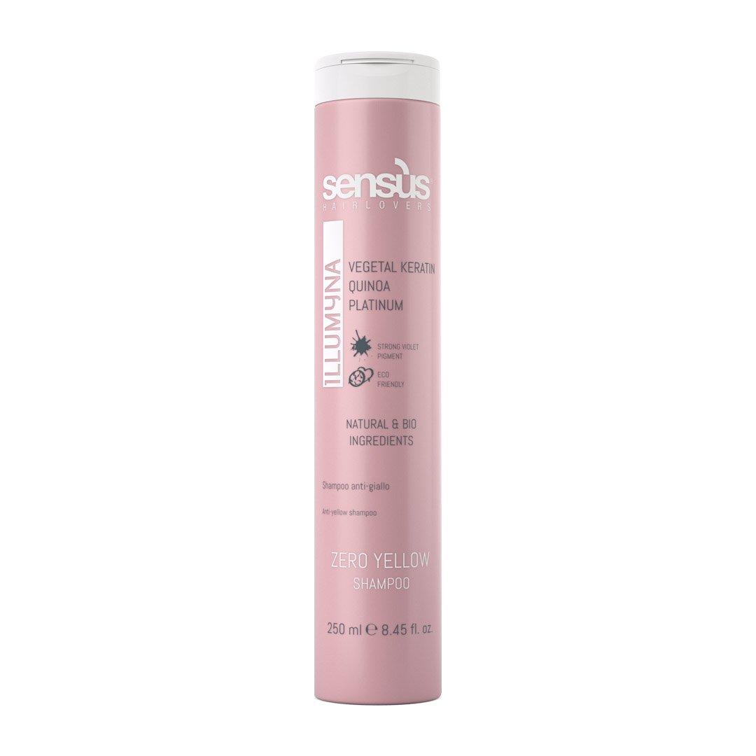 SENSUS Illumyna Zero Yellow Shampoo - 250 ml - Technologie Biopeptide anti-jaunissement