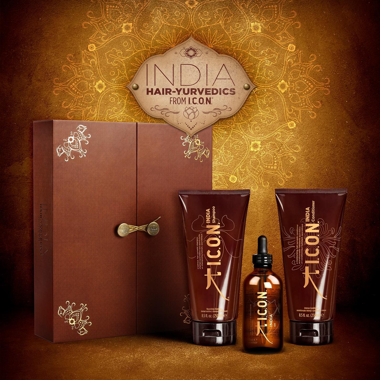 I.C.O.N - India Trio Oil Hair Yurvedics - Magnifique coffret édition limitée