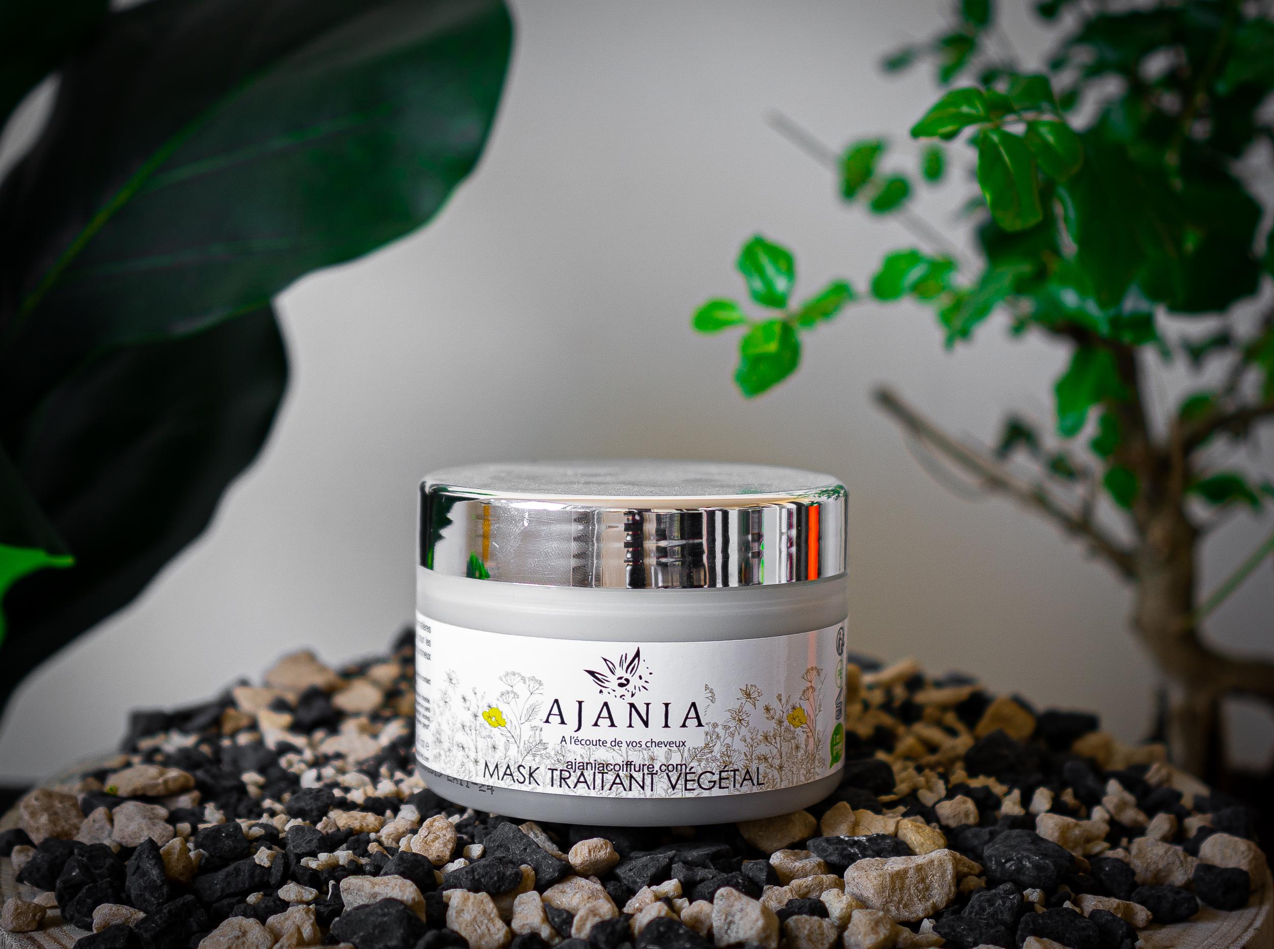 Ajania Mask Traitant Végétal - 250 ml - soin douceur, huile de macadamia