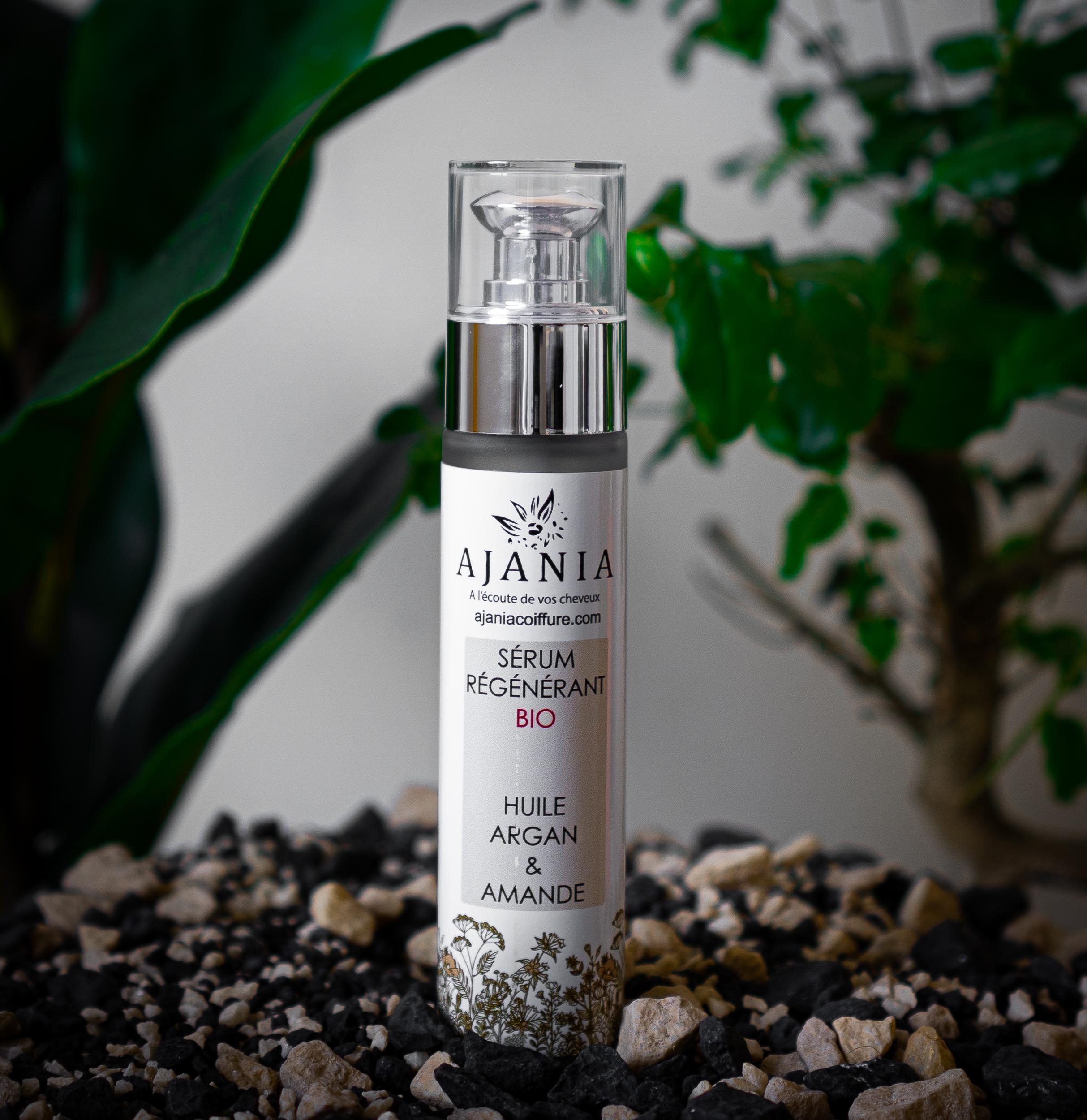Ajania - Serum régénérant bio - 75 ml - Sérum beauté huile d\'Argan et amande