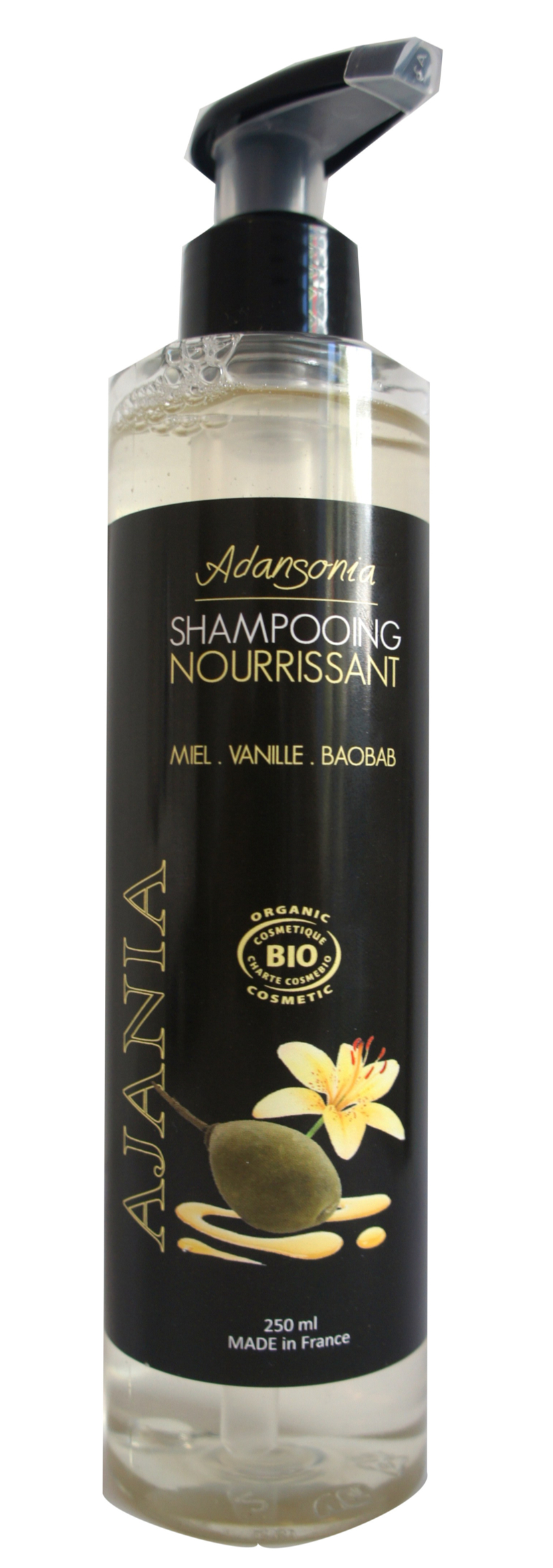 Ajania Adansonia- Shampooing Bio Nourrissant - 250 ml - Baobab Extrême souplesse