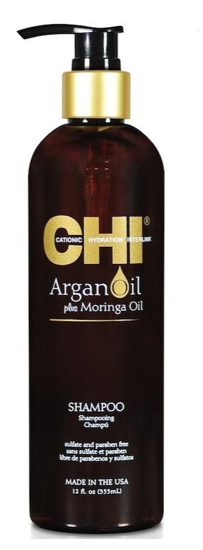 CHI Argan Oil - 355ml - Shampooing coup d\'éclat Huile d\'Argan et Huile de Moringa