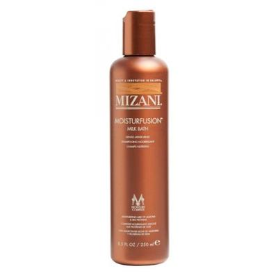 Mizani Moisturfusion Milk Bath - 250 ml - Shampooing lait adoucissant à l'avocat et protéines de soie pour cheveux secs et très secs
