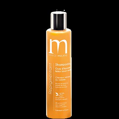 Mulato Shampooing Repigmentant Ocre d'Havane Reflets dorés- 200 ml - Pour magnifier vos cheveux blonds