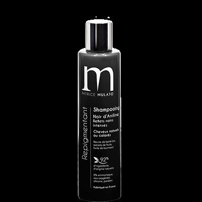 Mulato shampooing Repigmentant Noir d'Aniline  - 200 ml - Réhausseur éclat cheveux noirs
