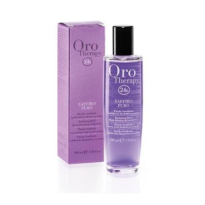 ORO Thérapy 24k Zaffiro Puro Fluide irradiant - 100 ml - Saphir  et or micro-actif pour illuminer les cheveux blonds et décolorés