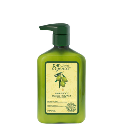 CHI - Olive Organics - Shampoo & Body wash - 340 ml - Olive Bio Brillance et Anti-fourches