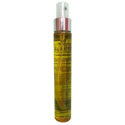 Ajania Huile Solaire - 75 ml - Protecteur huile de carotte, filtre UV cheveux et corps