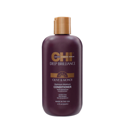 CHI Deep Brilliance Optimum Moisture Conditioner - 355 ml - Monoï & Olive extrême réparation