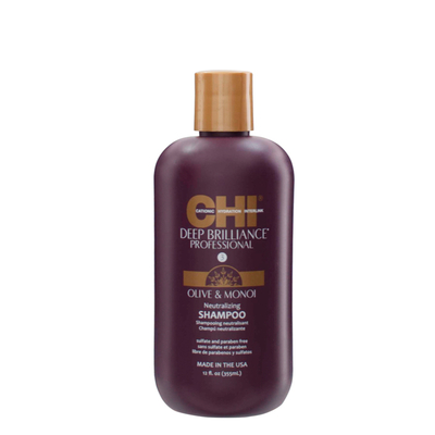 CHI Deep Brilliance neutralizing Shampoo - 355 ml - Ultra hydratant huile de Monoï