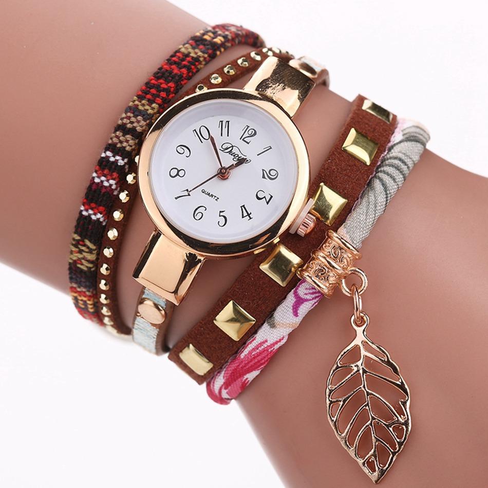 Montre Avec Bonheur Bracelet Feuille Porte Femme F5uT3KJl1c