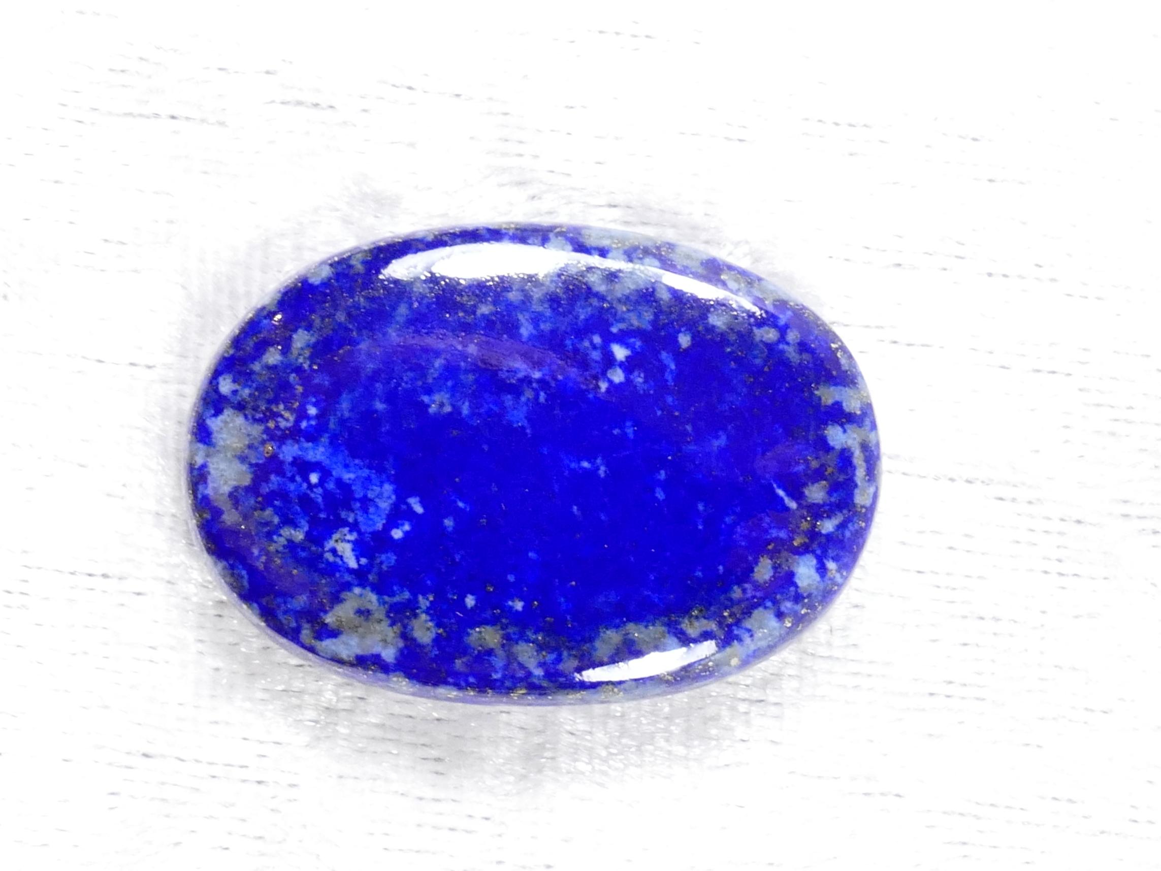 33.6x23.5mm Cabochon ovale de Lapis lazuli entièrement naturel d\'Afghanistan (#PM436)