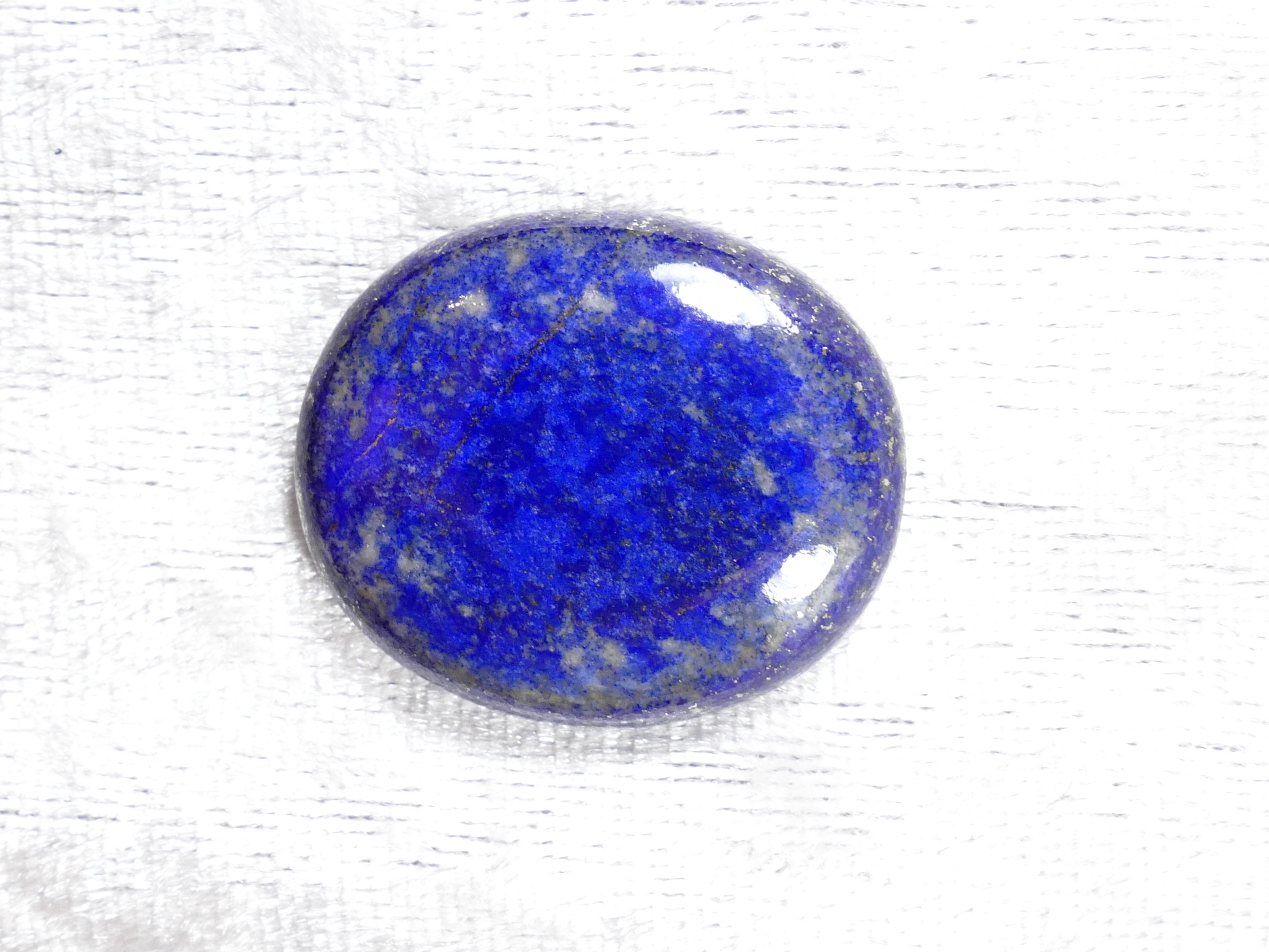 29x24.5mm Cabochon ovale de Lapis lazuli entièrement naturel d\'Afghanistan (#PM424A)