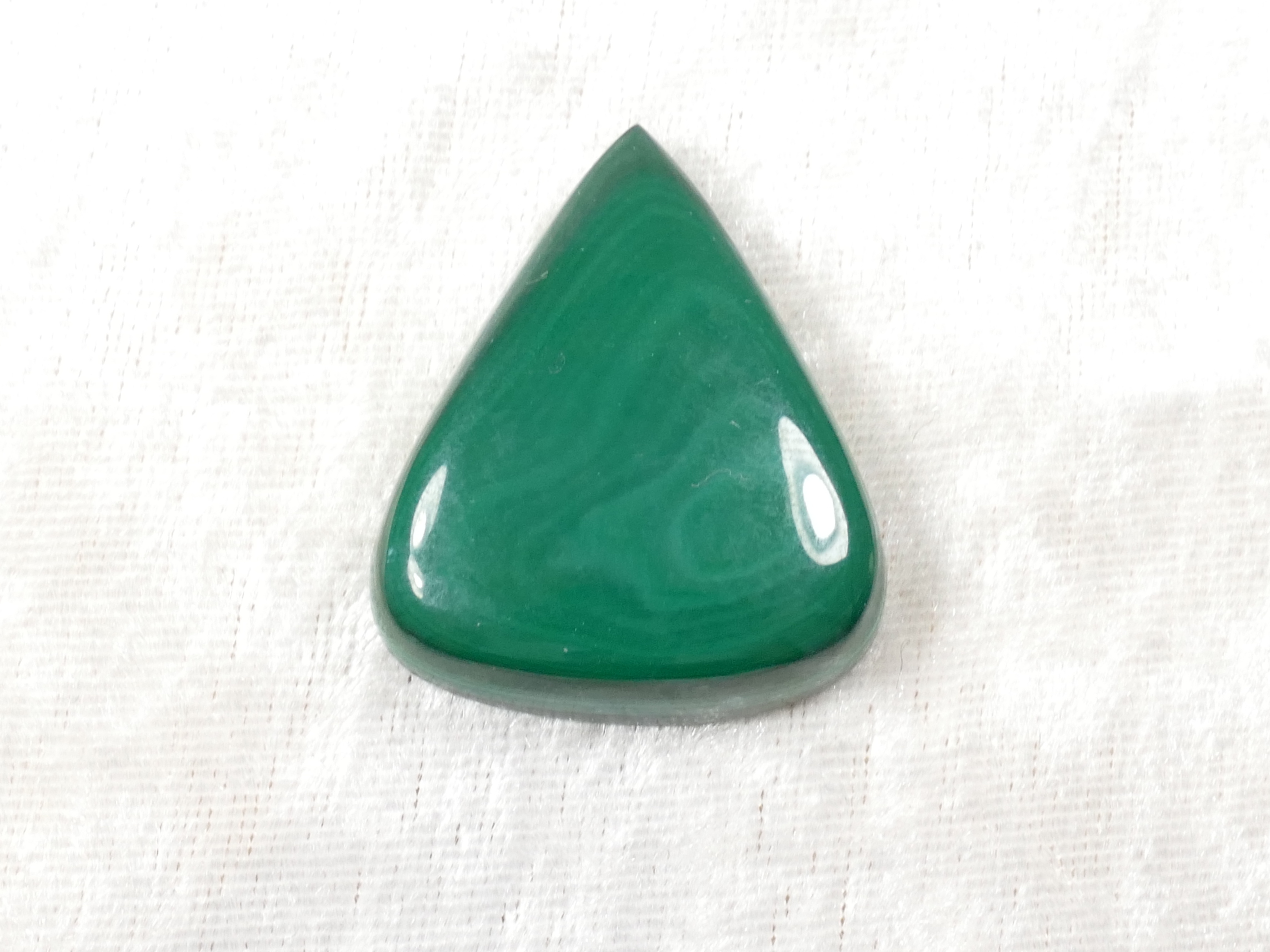 38x31mm Malachite naturelle en cabochon poire 20.1g (#PM457F)