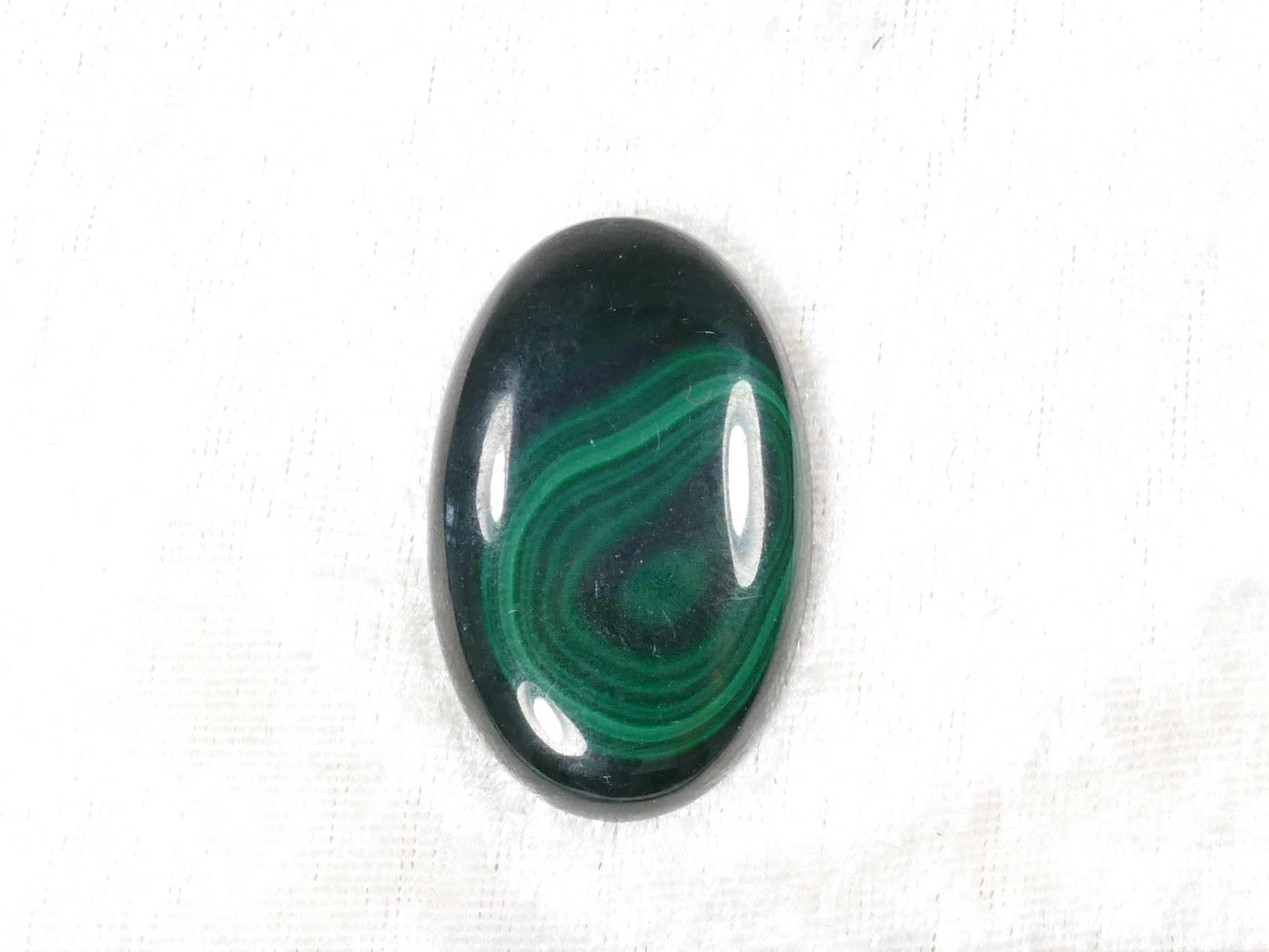 39.5x25mm Malachite naturelle en cabochon ovale 16.8g (#PM457G)