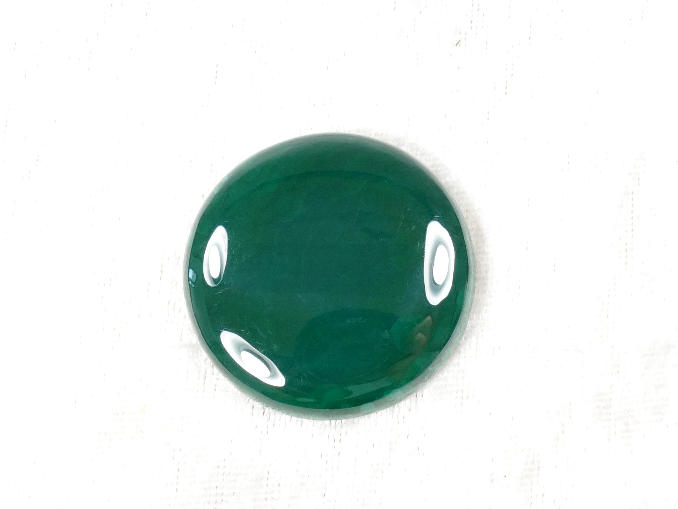 35mm Malachite naturelle en cabochon rond 19.4g (#PM459)