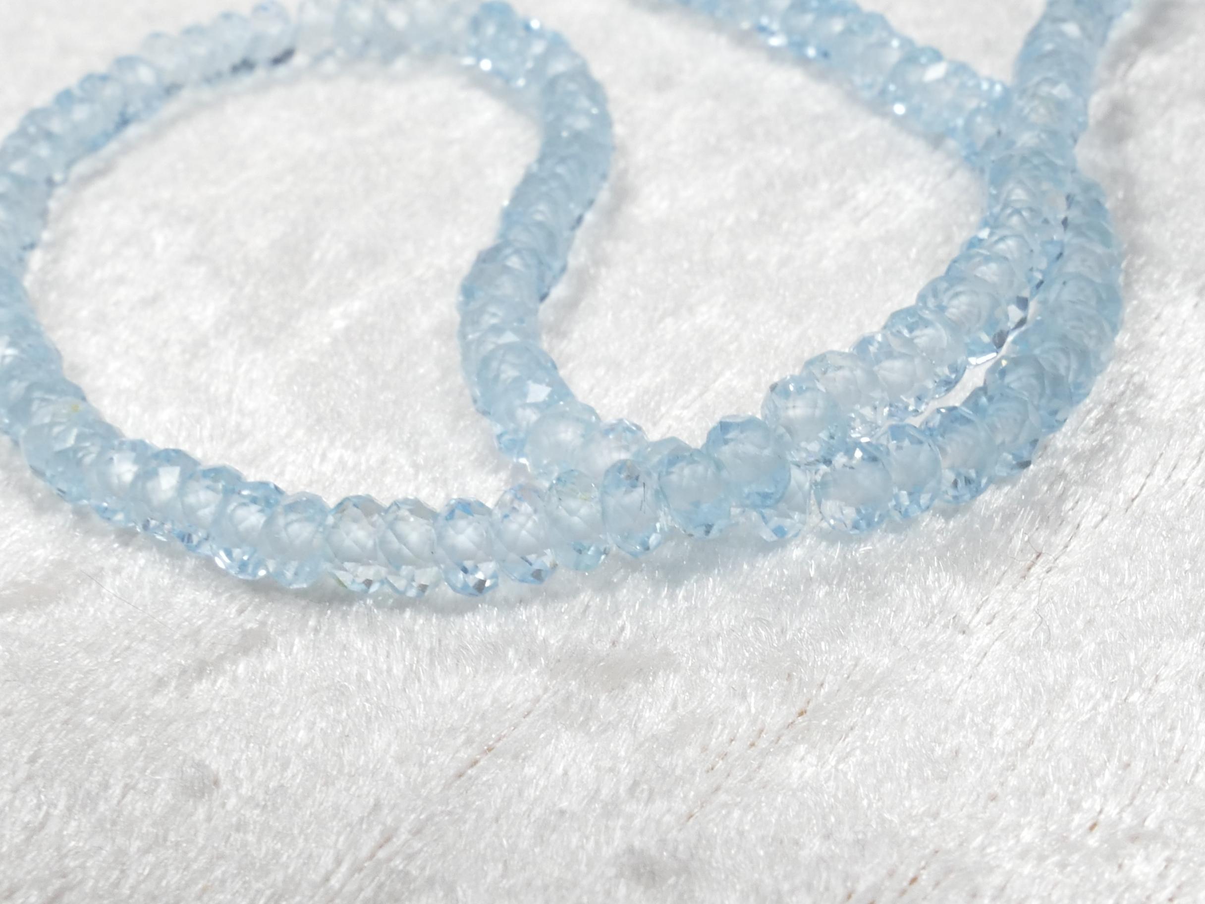 perle de topaze naturelle bleu ciel Brésil