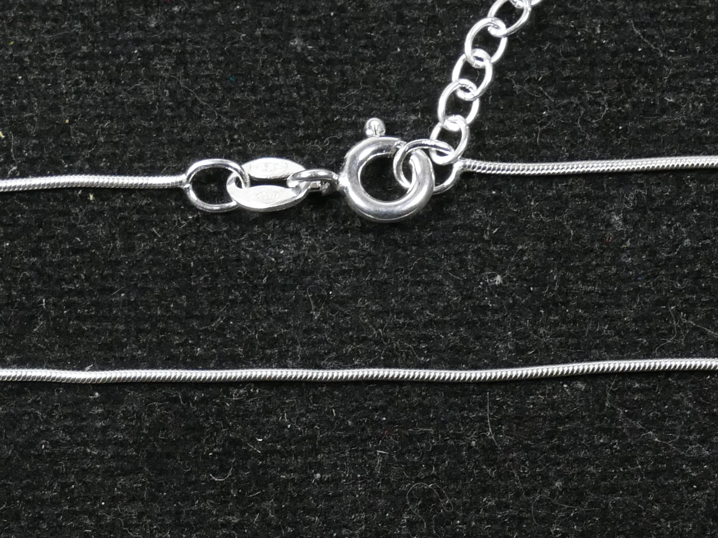 Chaine finie Collier Argent massif 925ème serpent 0.7mm 40+3cm (WA1A005)