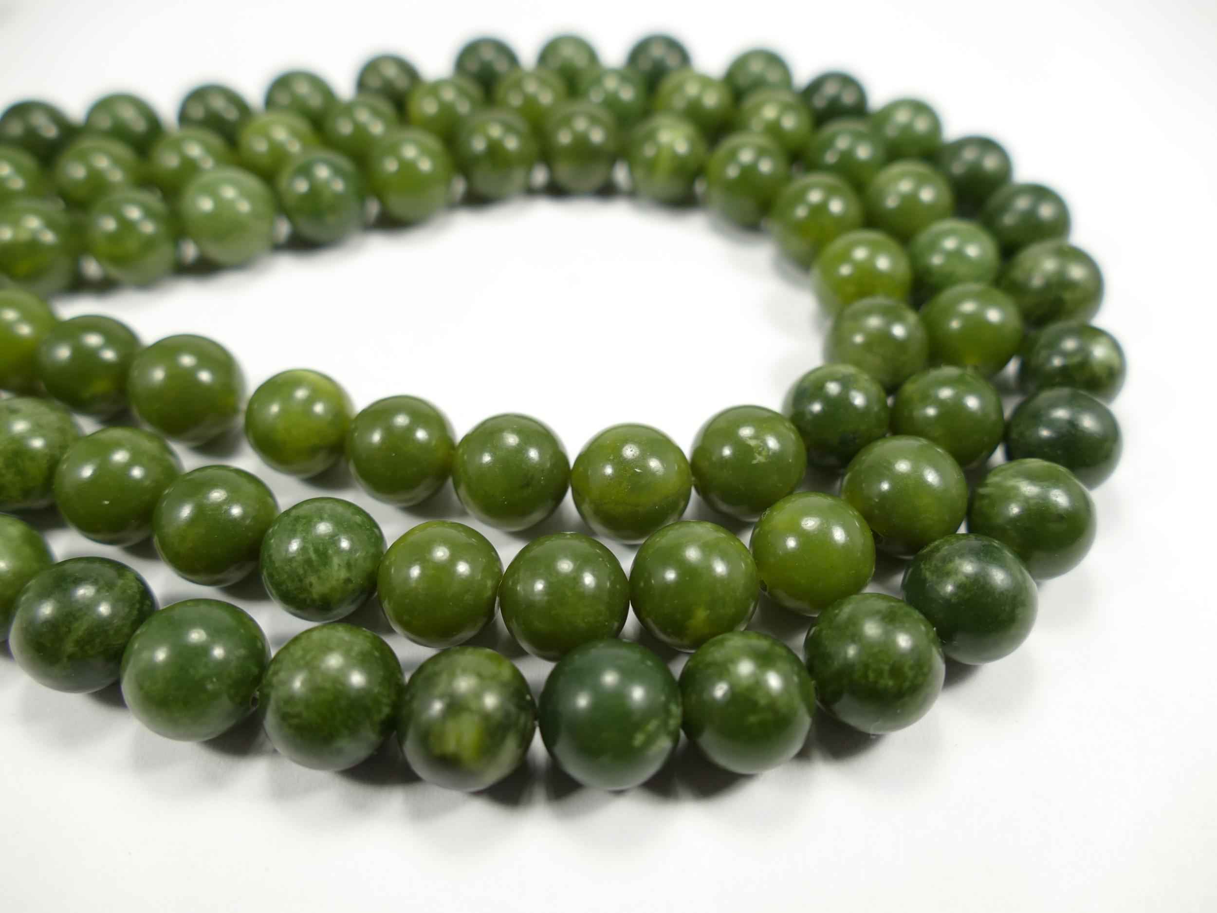 Dendritic Vert Jade Perles 15.5 Pouces, 10 mm perles rondes 308054006 10.3 mm