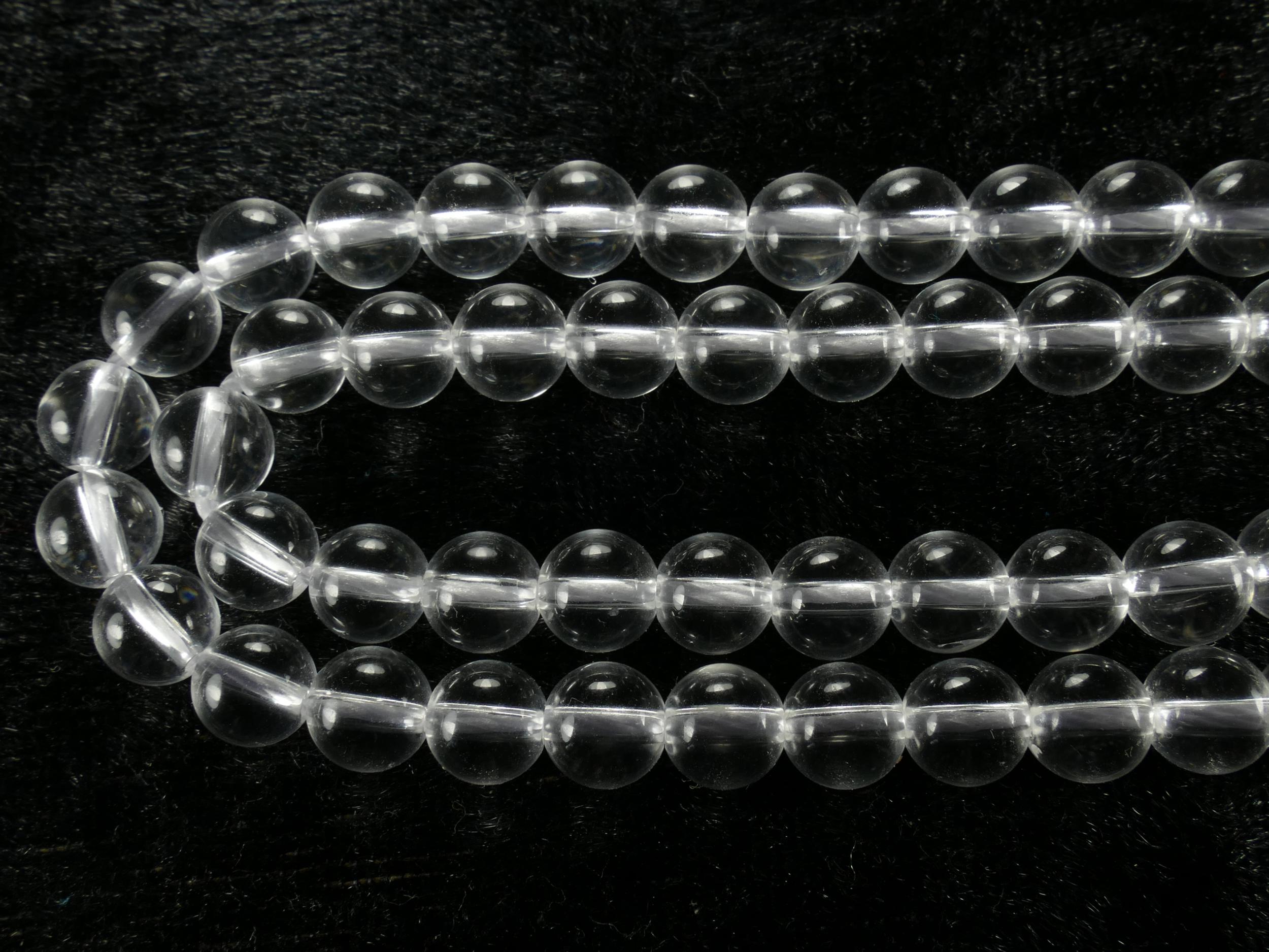6.5mm AAA x16 Perles de Quartz naturel Cristal de roche boule / ronde lisse (#AC737)