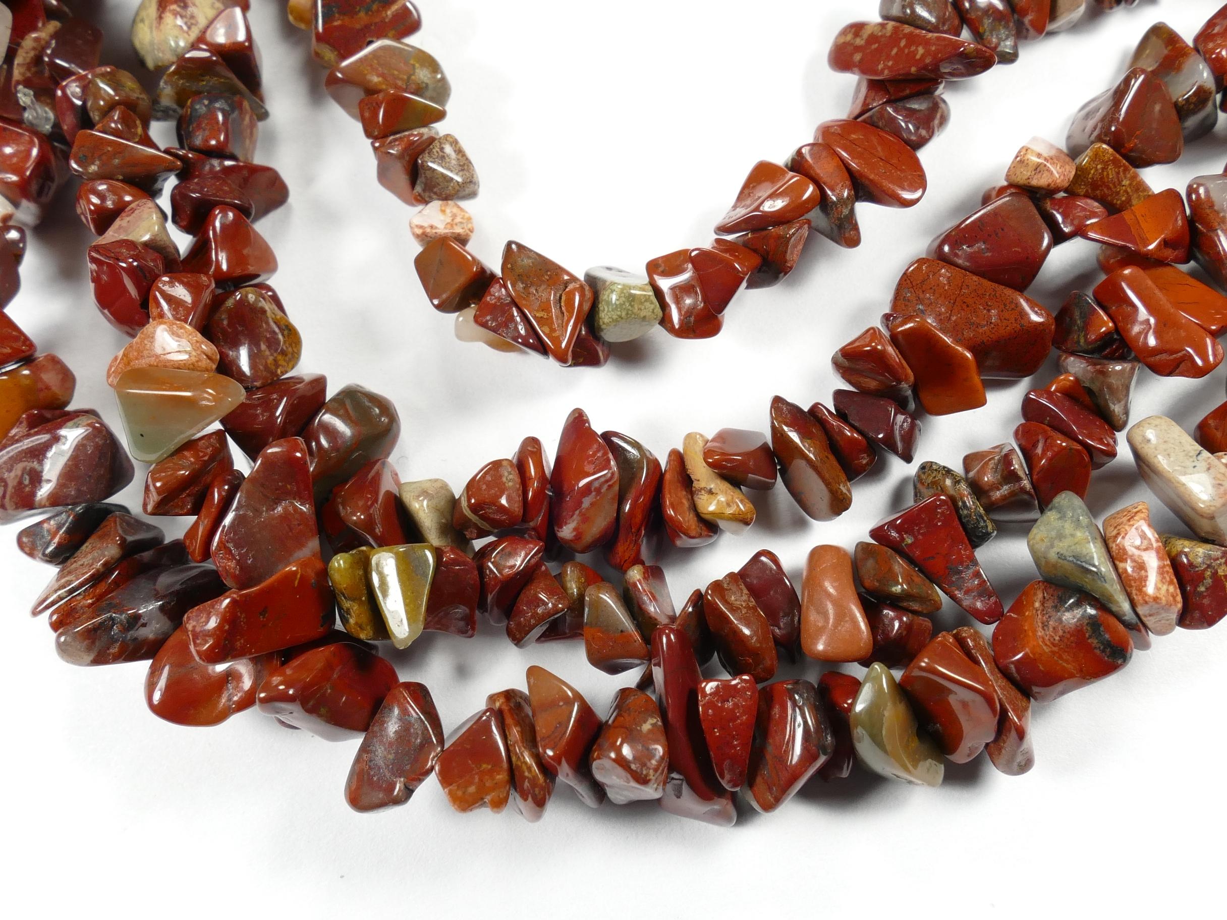 5/10mm Perles de Jaspe rouge foncé naturel roulé d\'Afrique x88cm (34.6inch) (#AC784)