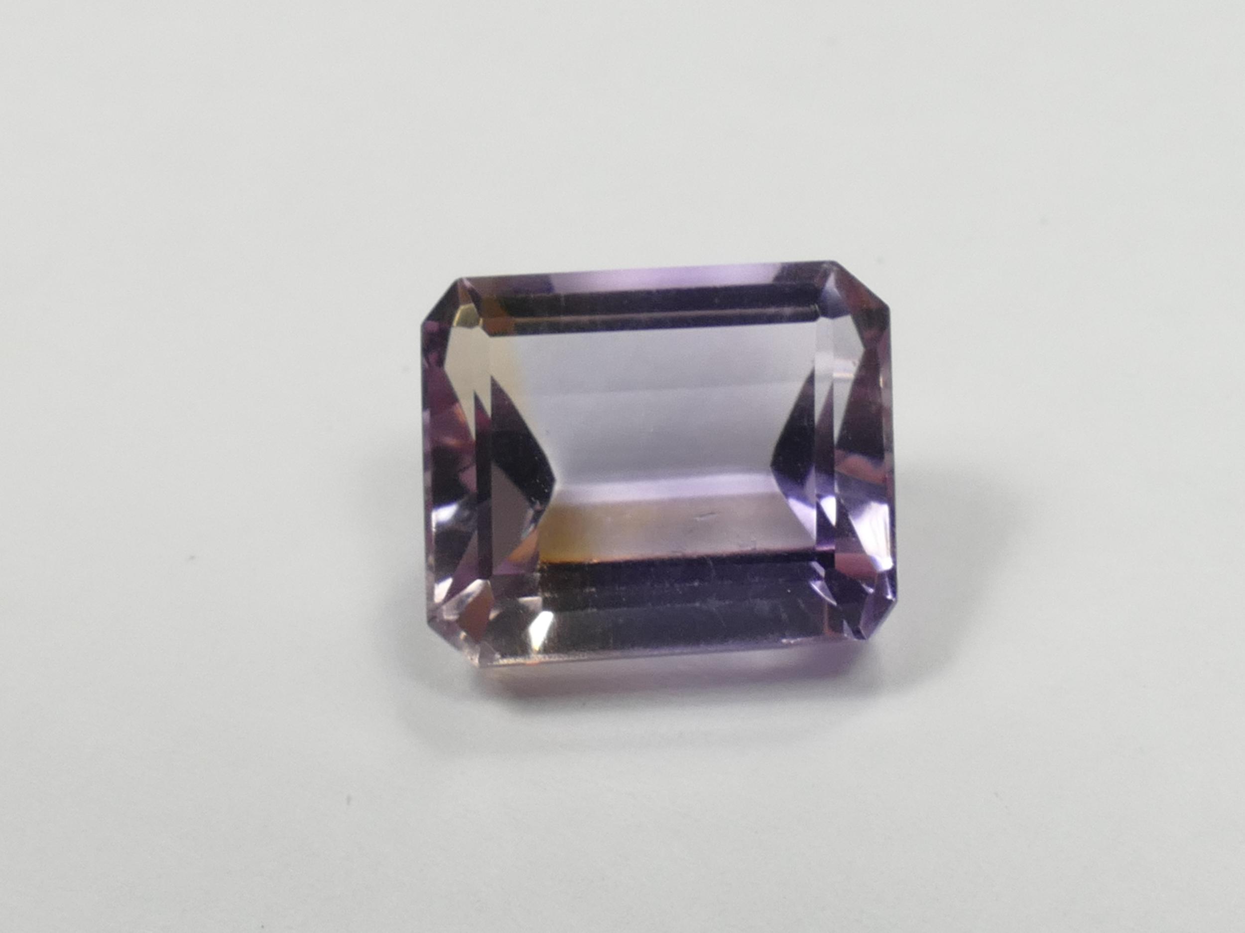 12.5x10.5mm VVS Amétrine naturelle facettée octogonale 7.14ct de Bolivie superbe éclat ! (#PB549)