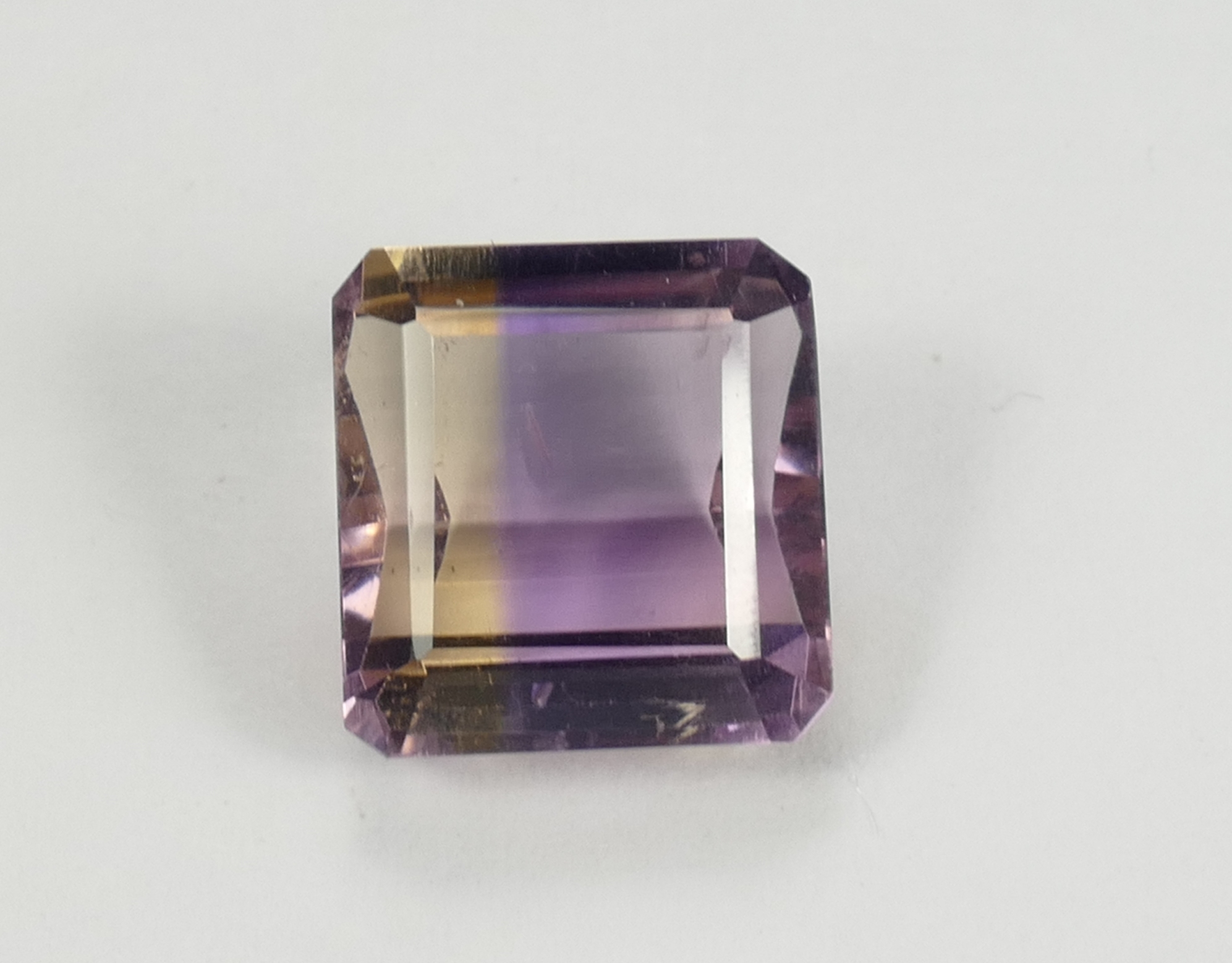 11.9x11.3mm Amétrine naturelle en taille octogonale SI 7.42ct Bolivie, superbe éclat ! (#PB824)