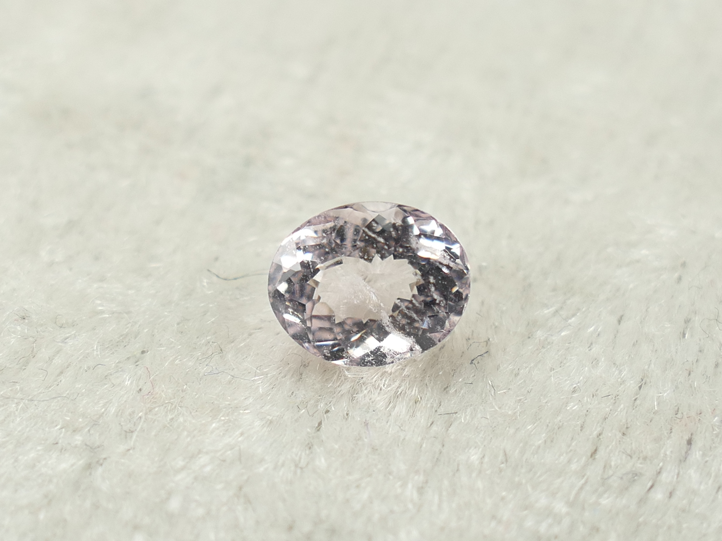 6.8x5.5mm Morganite Béryl rose entièrement naturelle ovale 0.89ct Namibie (#PK516)