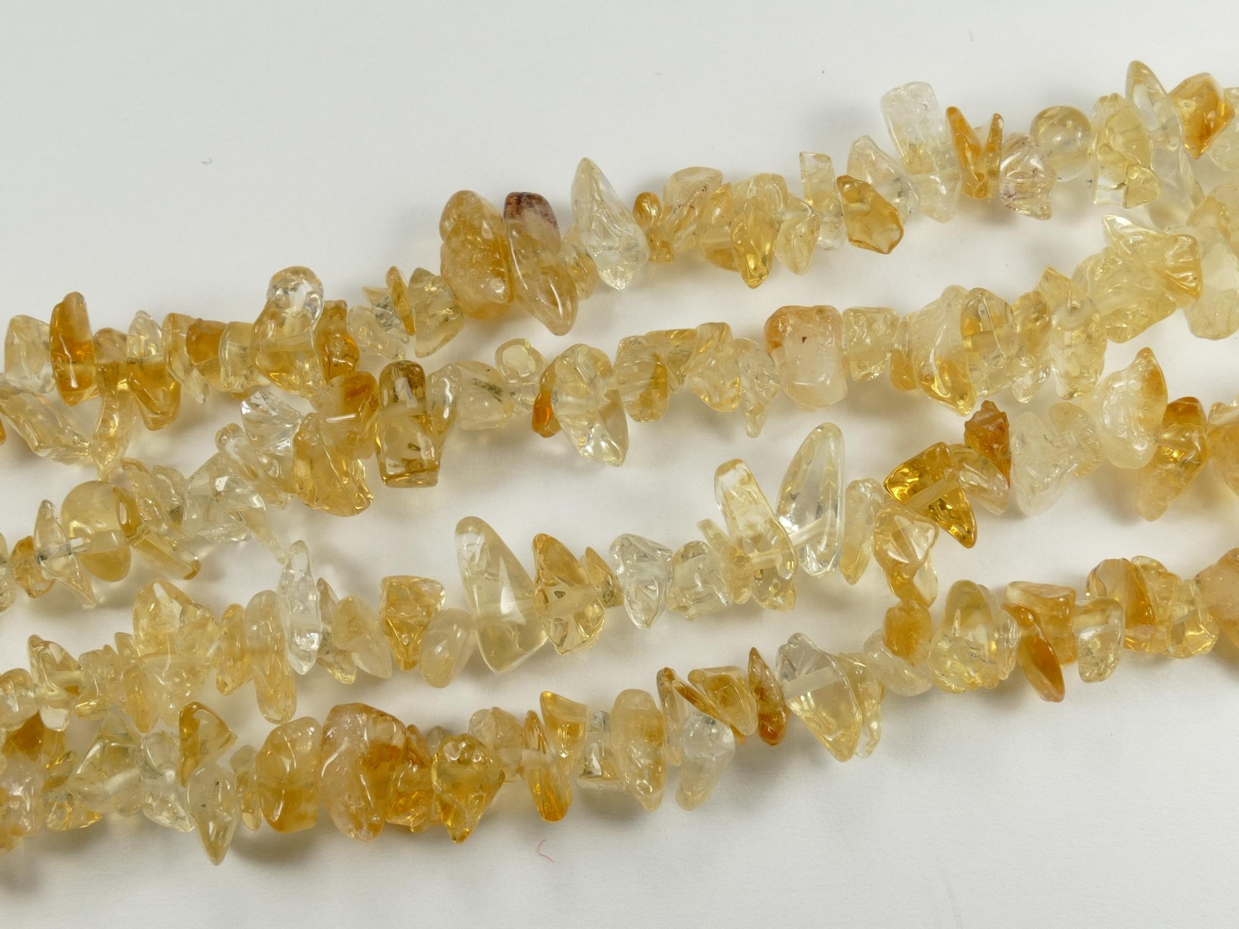 5/12mm Perles de Citrine brute roulée pierre fine du Brésil x88cm (34.6inch) (#AC763)
