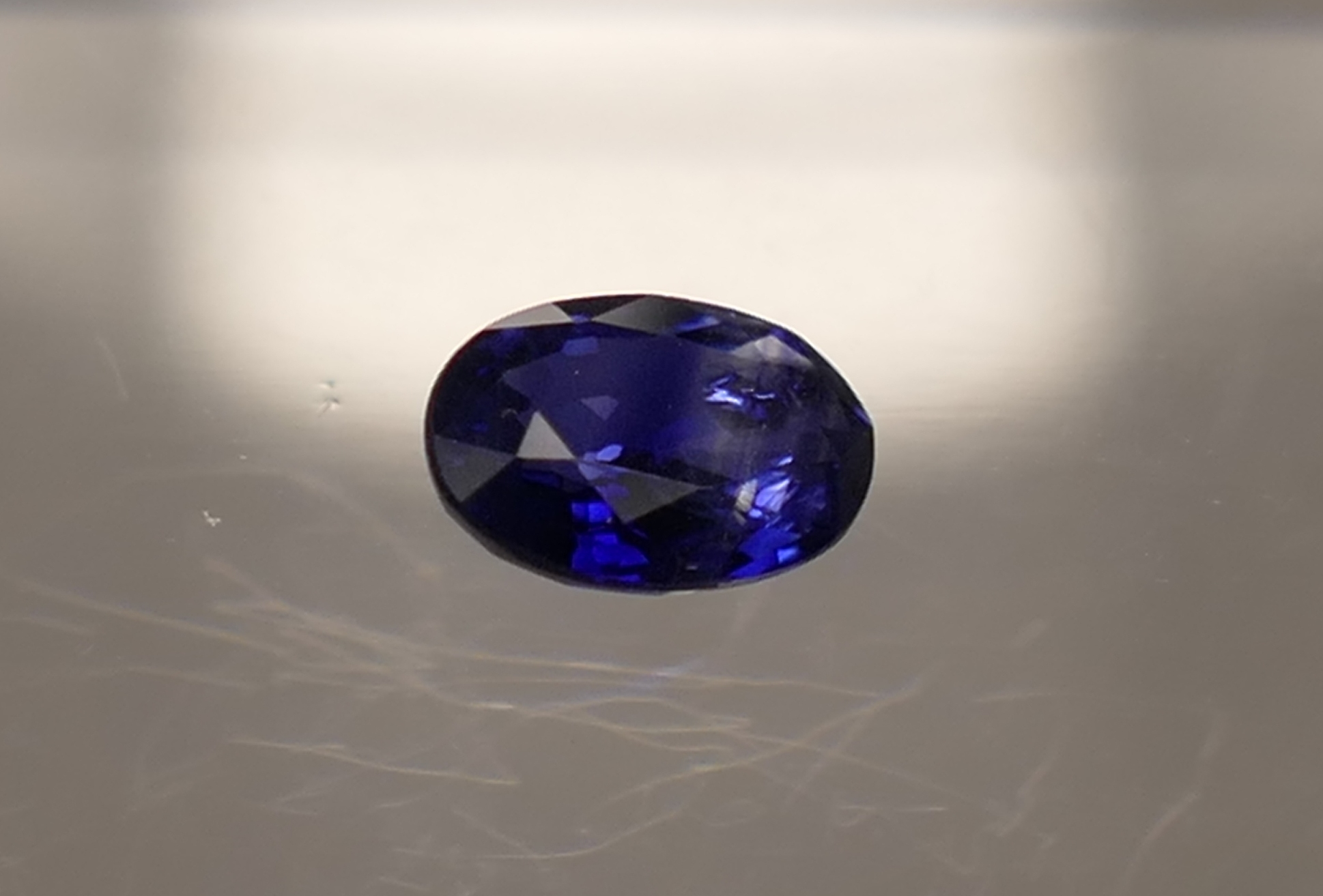 6x4mm Saphir bleu roi naturel SI/VS en ovale 0.54ct Ceylan Sri Lanka (#PB157)